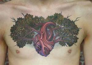creative chest tree of life tattoo - Design of ...