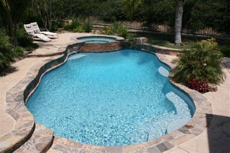 rivers flagstone coping  stamped concrete