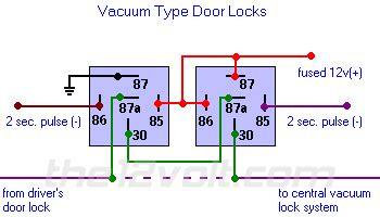 Vito Central Locking Wiring Diagram by Door Locks Vacuum Type Type E Relay Wiring Diagram