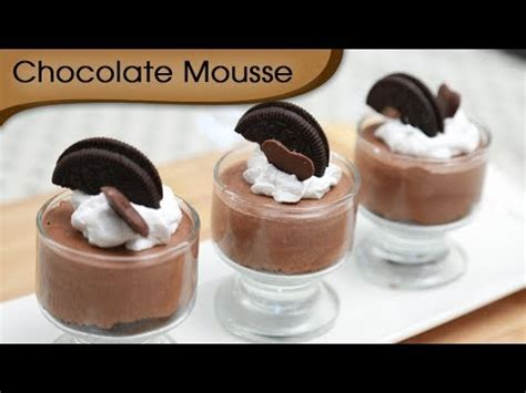 chocolate mousse easy to make chocolate recipe desserts
