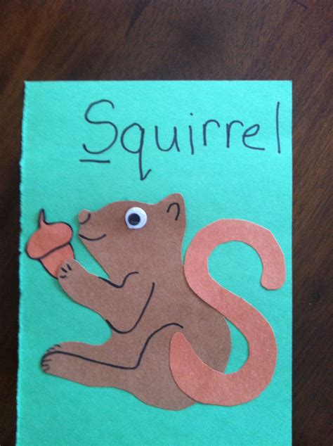 s is for squirrel letter s craft crafts 642 | 8f8181ab84fd667bf779b87c0d8a4dbd