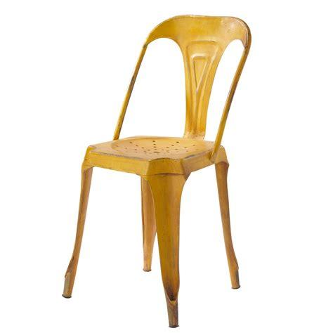 chaise metal maison du monde metal industrial chair in yellow multipl 39 s maisons du monde