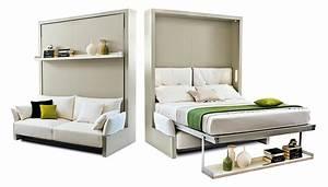 Lit Dans Armoire : lits escamotables en armoire le guide ~ Premium-room.com Idées de Décoration