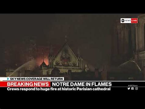notre dame cathedral  paris  fire abc news special