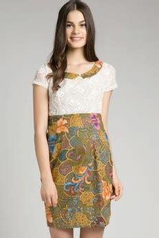 model cantik dress batik modern terbaru koleksi dress