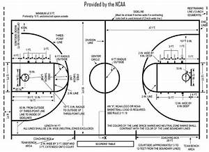 Basketball Court Diagram  U0026 Layout Dimensions