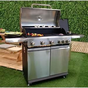 Barbecue Gaz Avec Plancha Et Grill : bbq plus barbecue am ricain gaz 5 br leurs side burner ~ Melissatoandfro.com Idées de Décoration
