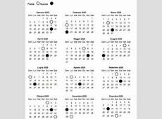 Calendario Lunare 2020 La Gravidanza