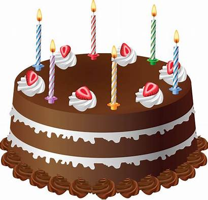 Cake Chocolate Candles Clipart Cakes Transparent Yopriceville