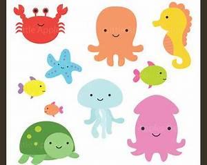 Sea Animal Clipart Sea Animal Clip Art Sea Creatures by ...