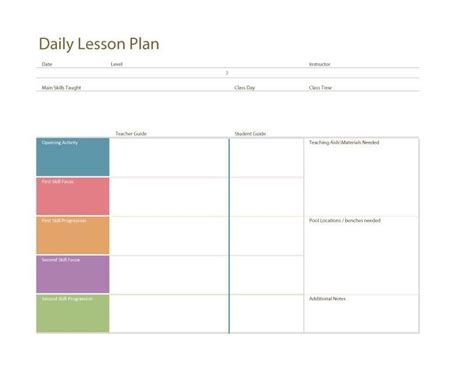 daily lesson plan template daily lesson plan template fotolip rich image and wallpaper