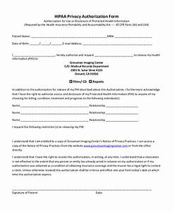 hipaa consent forms hipaa patient authorization form With privacy release form template
