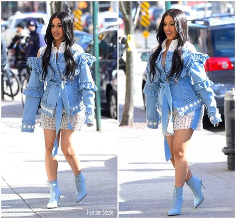 cardi b fashion performance cardi b in the laurence chico out in new york
