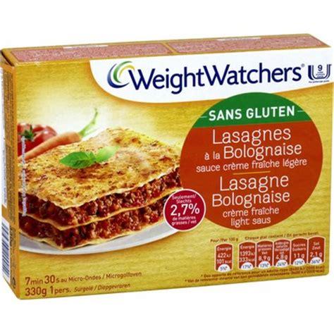 plats cuisin駸 weight watchers plat cuisin 233 lasagnes bolognaise s gluten weight watchers