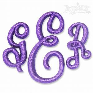 empire 3d puff monogram embroidery font With 3d monogram letters