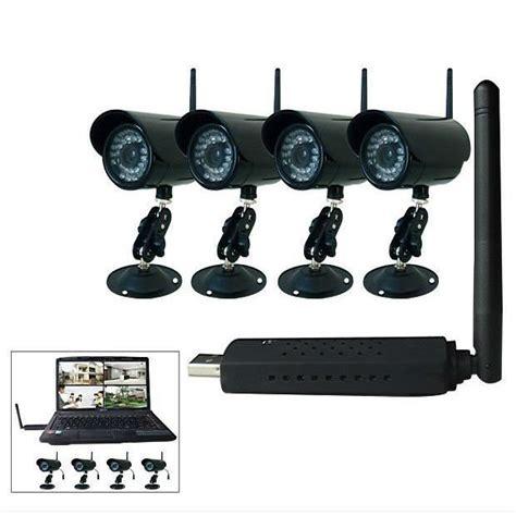 surveillance exterieur sans fil kit 4 securite sans fil avec recepteur usb achat vente 233 ra de surveillance cdiscount