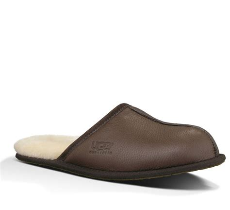 ugg australia mens slippers scuff leather stout