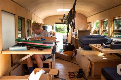 school conversion world of technology a cool school bus conversion into a fully functional mobile home 25 pics
