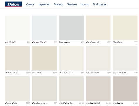 dulux whites paint wall colour ideas   wall