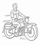 Coloring Motorcycle Moto Motos Dirigindo Printable Desenhos Colorir Homem Transports Capacete Sem Colorare Disegni Desenho Motor Coloriage Momjunction Imprimer Trator sketch template