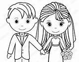 Coloring Groom Bride Printable Personalized Activity Pdf Childrens Favor Getcolorings Getdrawings sketch template