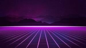 wallpaper retrowave purple lines 4k 18921
