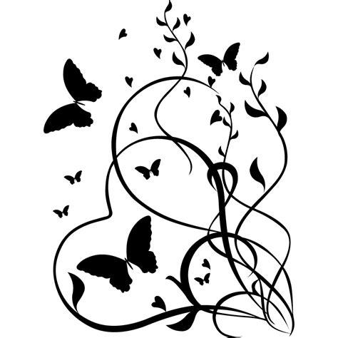 cuisine americain stickers coeur papillon pas cher