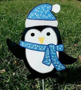 penguin yard decoration festive garden art winter penguin