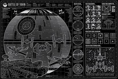 Wars Star Schematic Battle Yavin Awakens Force