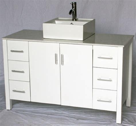 48 inch vessel sink vanity 48 inch bathroom vanity vessel sink top style pure white