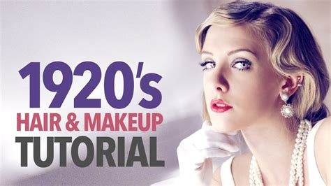 1920 Hairstyles Tutorial by 1920s Makeup Hair Tutorial