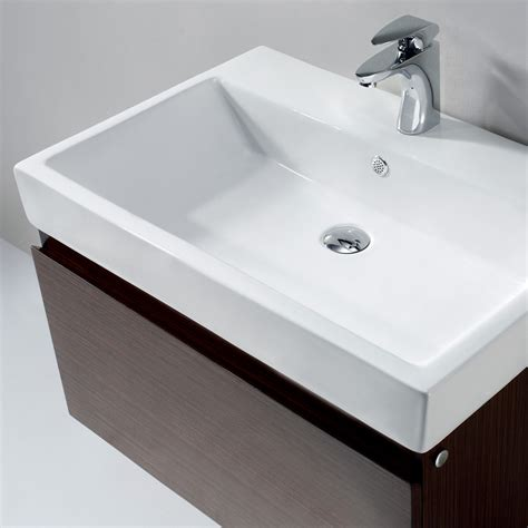 Vigo Agalia Bathroom Vanity, Contains One White Topmount