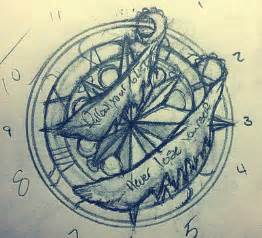 Drawing Compass Tattoo Design