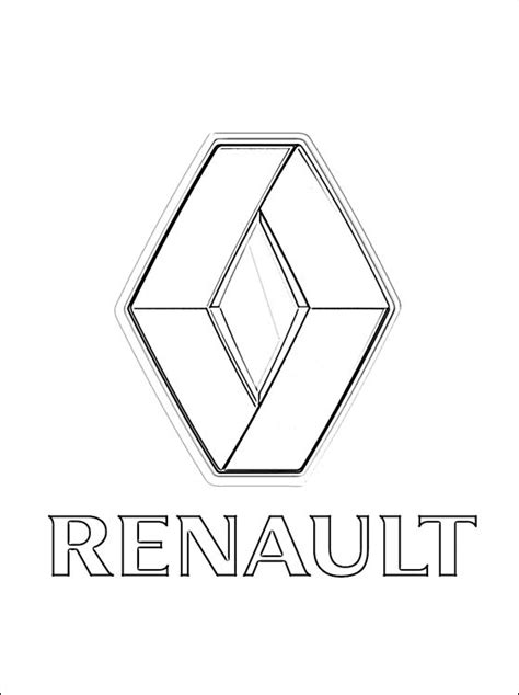 coloring page renault logo coloring pages