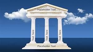 Diagram Of 3d Pillars Ppt