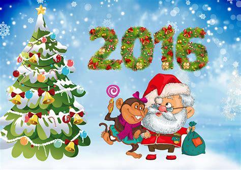 Fondos De Pantalla Día Festivos Año Nuevo Mono Árbol De