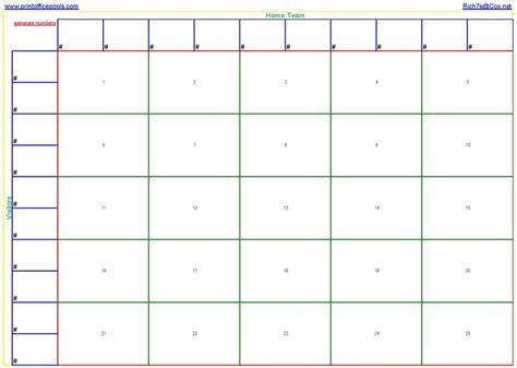 square football pool template printable  square