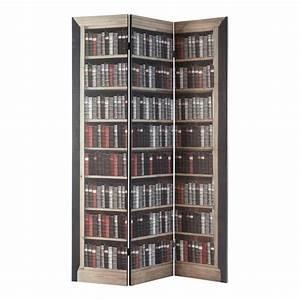 Paravent imprime en bois l 120 cm shakespeare maisons du for Paravents maison du monde