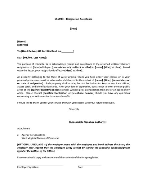 Board Resignation Acceptance Letter   Templates at allbusinesstemplates.com