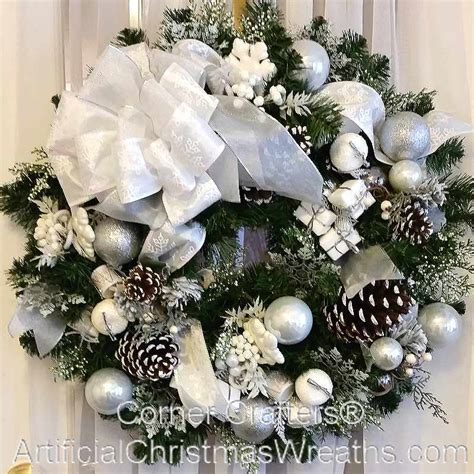 and white christmas wreaths white christmas wreath artificialchristmaswreaths com christmas wreaths