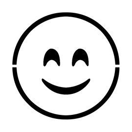 emoji smiling blushed stencil  stencil gallery