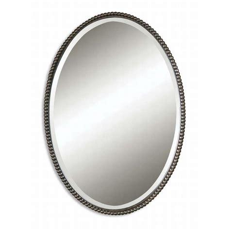 global direct      bronze oval framed mirror