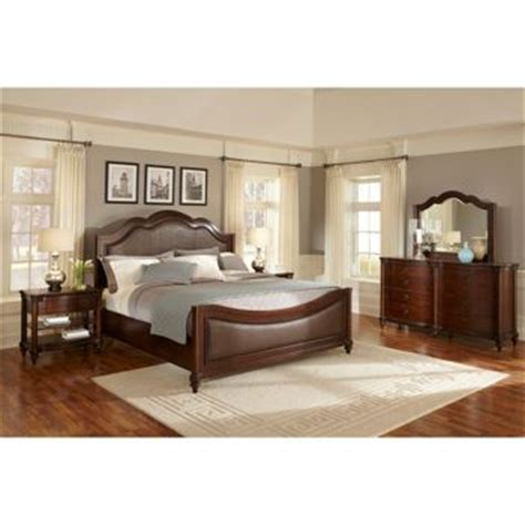 costco wellington  piece queen leather bedroom set