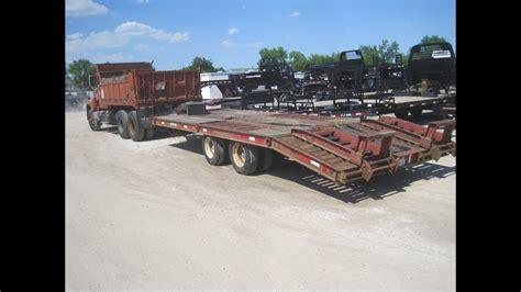 soldih  transtar cummins dump truck solddynaweld equipment trailer   youtube