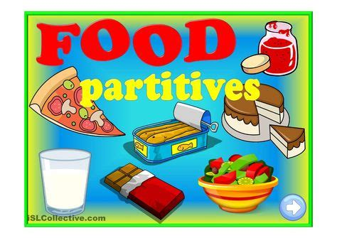 food partitives game  box   bunch