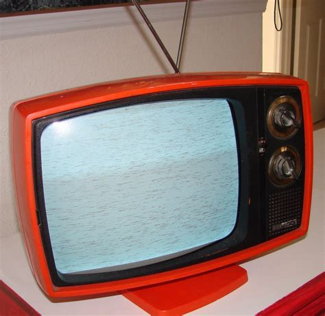 RESERVED Vintage Philco Ford Television Retro Orange Art