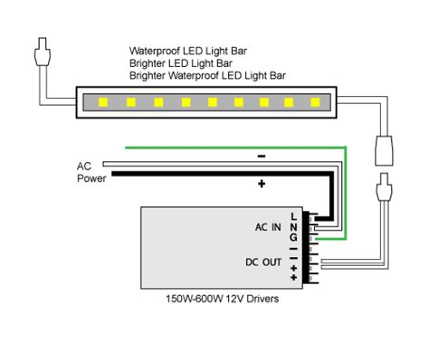 Led Light Bar Wiring Diagram For Truck by 88light Led Light Bar To Adapter And Driver Wiring Diagrams
