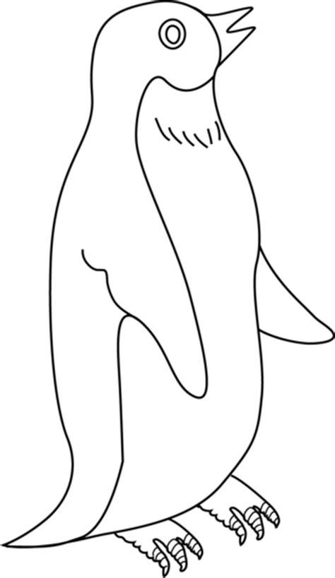 penguin coloring page   clip art