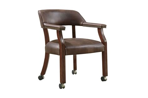 desk chair with wheels traditional brown office chair with casters 517brn at