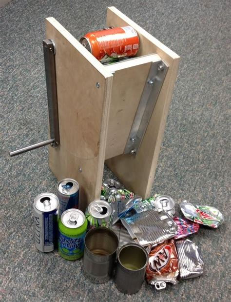crusher plans diy cans diy wood projects wood crafts